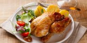 Grilled whole small chicken
